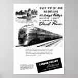 Lehigh Valley Railroad - New Diesel Power 1950 Print