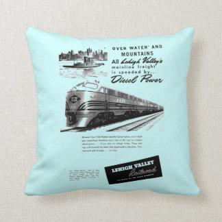 Lehigh Valley Railroad - New Diesel Power 1950 Throw Pillow