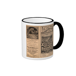 Lehigh Valley Railroad Ringer Coffee Mug