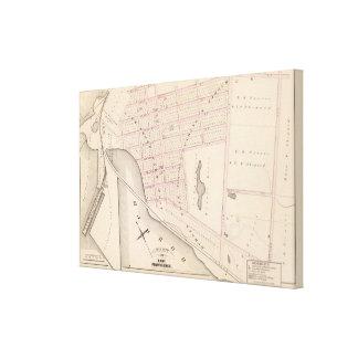 Lehigh y atlas del muelle de Wilkesbarre Coal Comp Impresión En Lienzo