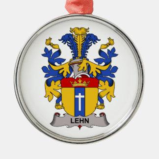 Lehn Family Crest Round Metal Christmas Ornament
