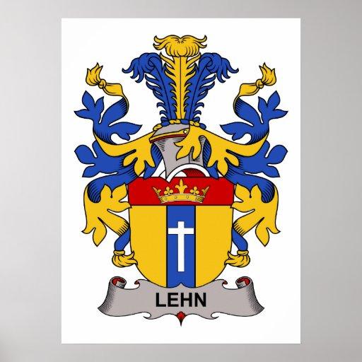 Lehn Family Crest Poster