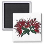 Lehua flower refrigerator magnets