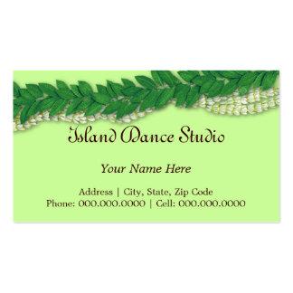 lei1 hawaiano tarjetas de visita
