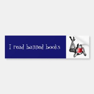 Leí a la pegatina para el parachoques de los libro etiqueta de parachoque