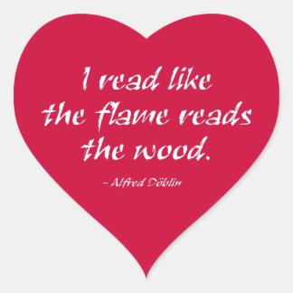 Leí como la llama leo la madera calcomanías de corazones personalizadas