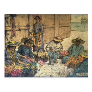 'Lei Day Hawaii' - Charles W. Bartlett Postcard