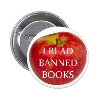 Leí el botón de Apple de los libros prohibidos Pin Redondo De 2 Pulgadas