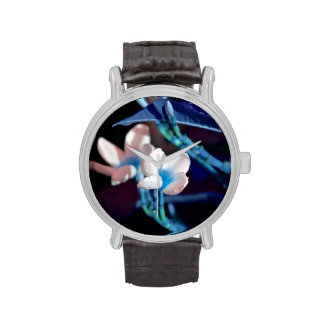lei flower blue peach colorized watches
