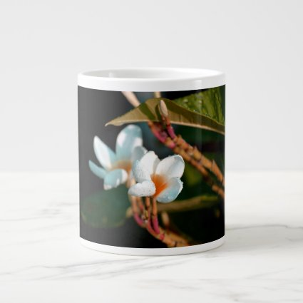 lei flower orange colorized jumbo mugs