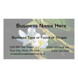 lei flower white yellow business card