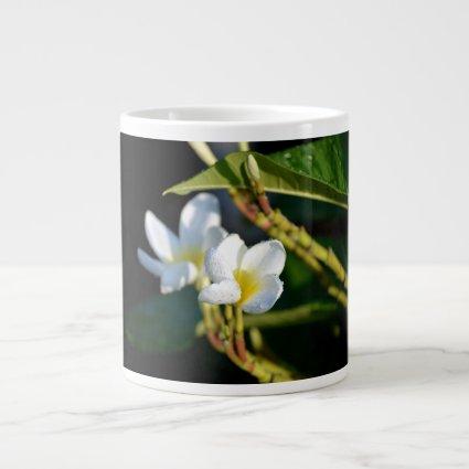lei flower white yellow jumbo mugs