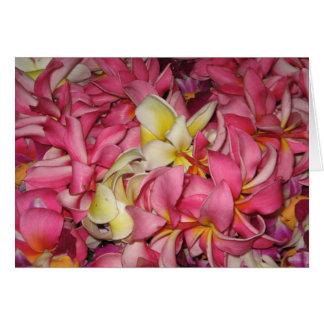 Lei Flowers Card