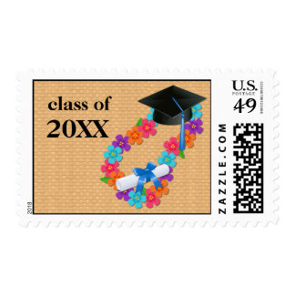 Lei Graduation Stamp with Cap and Diploma