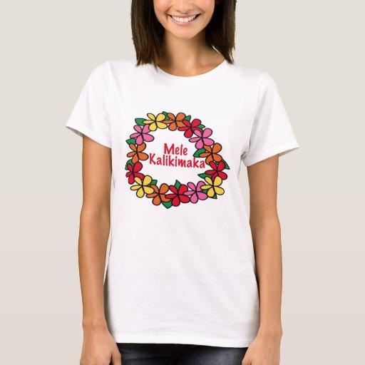Lei hawaiian christmas t shirt zazzle for Hawaiian design t shirts
