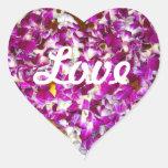 Lei Heart Sticker