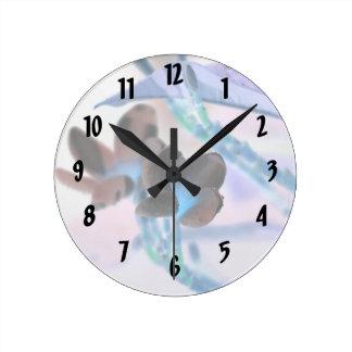lei invert flower pastels neat flower design round clock