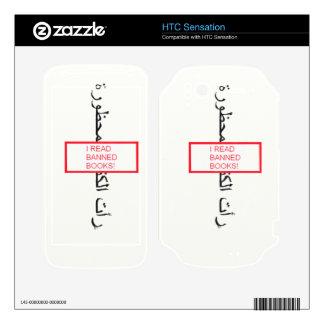 Leí la piel de Zazzle de los libros prohibidos par Calcomanía Para HTC Sensation