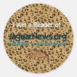 Leí las noticias de Jaguar Etiquetas Redondas