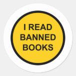 Leí los libros prohibidos etiqueta redonda