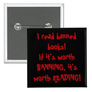 ¡Leí los libros prohibidos! Pin Cuadrado