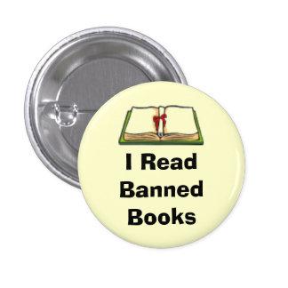 Leí los libros prohibidos pin redondo de 1 pulgada