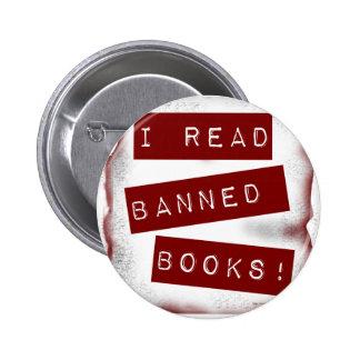 ¡Leí los libros prohibidos! Pin Redondo De 2 Pulgadas