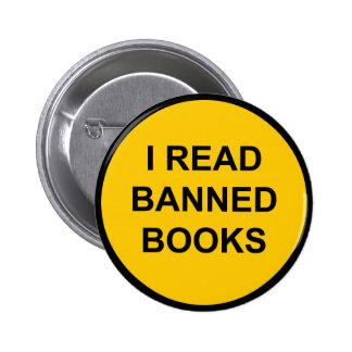 Leí los libros prohibidos pin redondo de 2 pulgadas