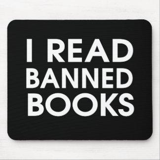 Leí los libros prohibidos tapetes de ratón