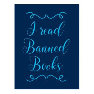 leí los libros prohibidos tarjeta postal