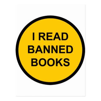 Leí los libros prohibidos postal