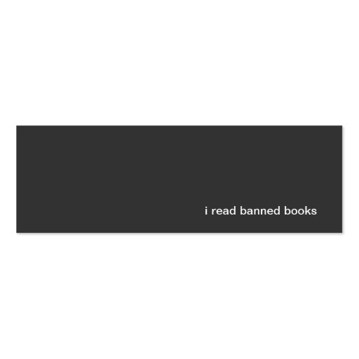 leí los libros prohibidos tarjetas de visita mini
