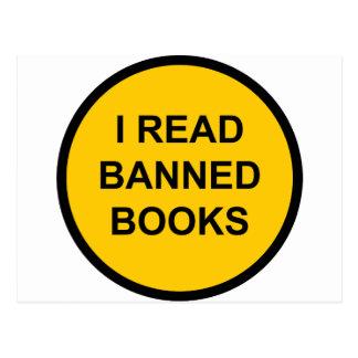 Leí los libros prohibidos tarjetas postales