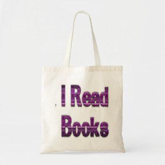 Leí los libros púrpuras bolsas