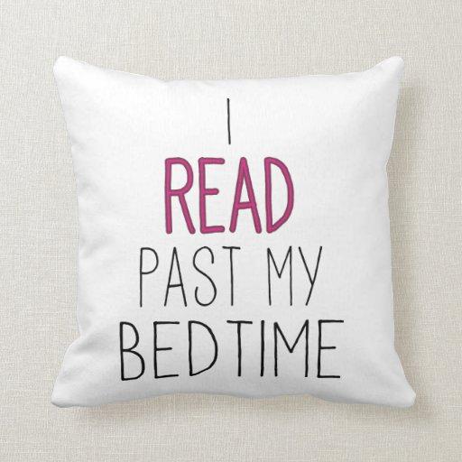 Leí más allá de mi hora de acostarse almohadas