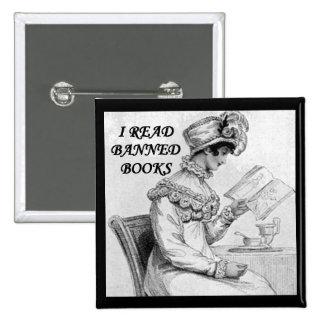 Leí orgullo y perjuicio de los libros prohibidos pin cuadrado