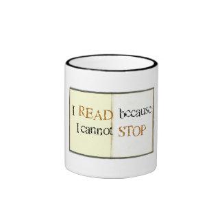 Leí porque no puedo parar la taza