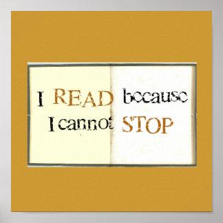 Leí porque no puedo PARAR Póster