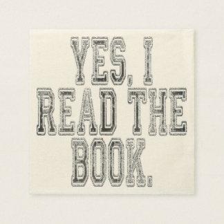 Leí sí el gris del libro servilleta desechable
