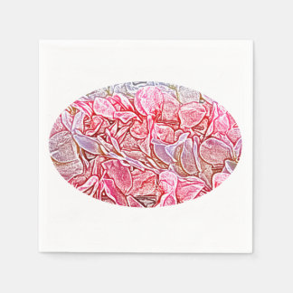 lei sketch pink flowers abstract neat background paper napkins