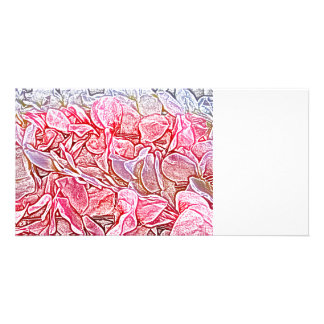 lei sketch pink flowers abstract neat background custom photo card