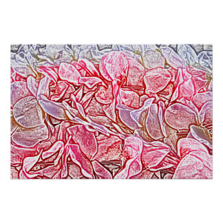 lei sketch pink flowers abstract neat background posters