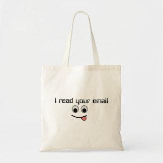 Leí su bolso del correo electrónico bolsas