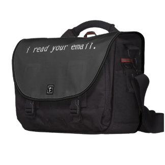 Leí su bolso del ordenador portátil del pirata inf bolsas para portatil