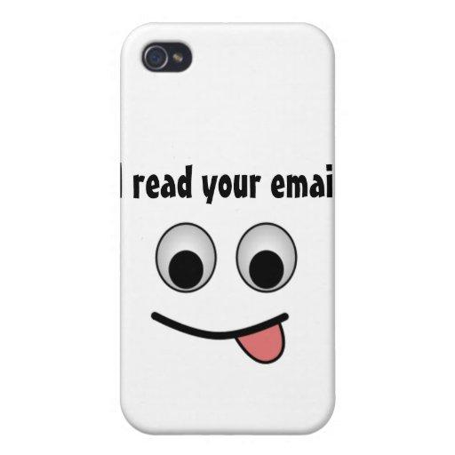 Leí su correo electrónico 4/4s iPhone 4/4S funda