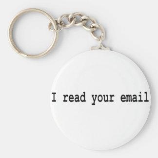 Leí su correo electrónico llaveros