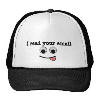 Leí su gorra del correo electrónico