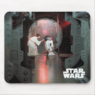 Leia and R2-D2 Secret Message Scene Mouse Pad
