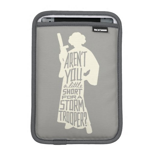 Leia: Stormtrooper Typography Quote iPad Mini Sleeve