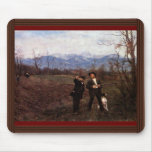 Leibl And Sperl On The Chicken Hunt By Leibl Mouse Pad